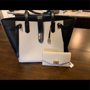 NWT AUTHENTIC MICHAEL KORS CASSIE TOTE AND WALLET
